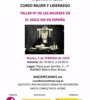 TALLER DE Hª DE LAS MUJERES DEL S. XIX 2/3