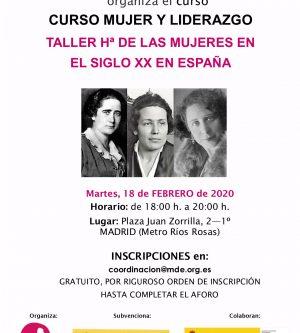 TALLER DE Hª DE LAS MUJERES DEL S. XX 3/3